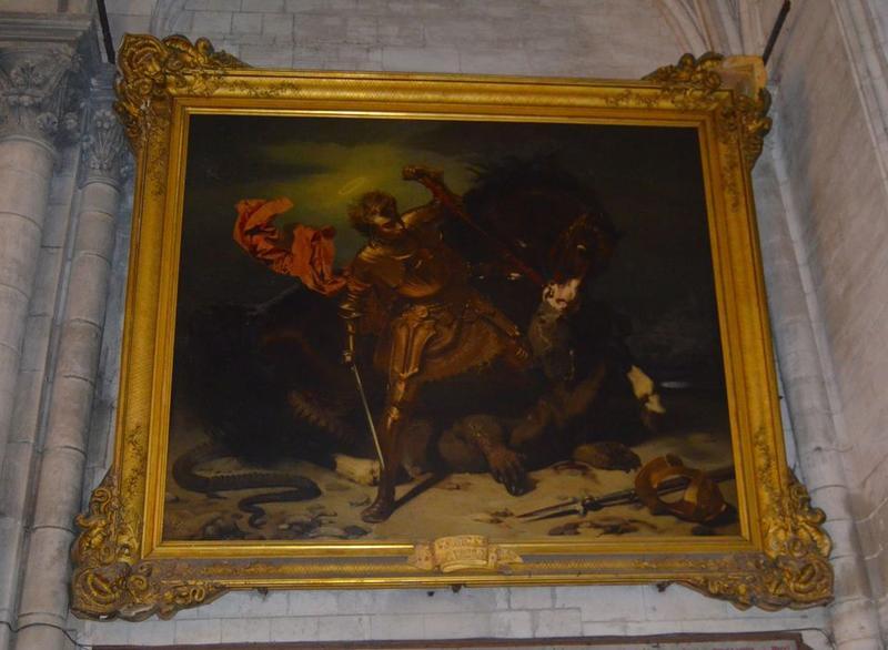 tableau, cadre : saint Georges victorieux, vue générale
