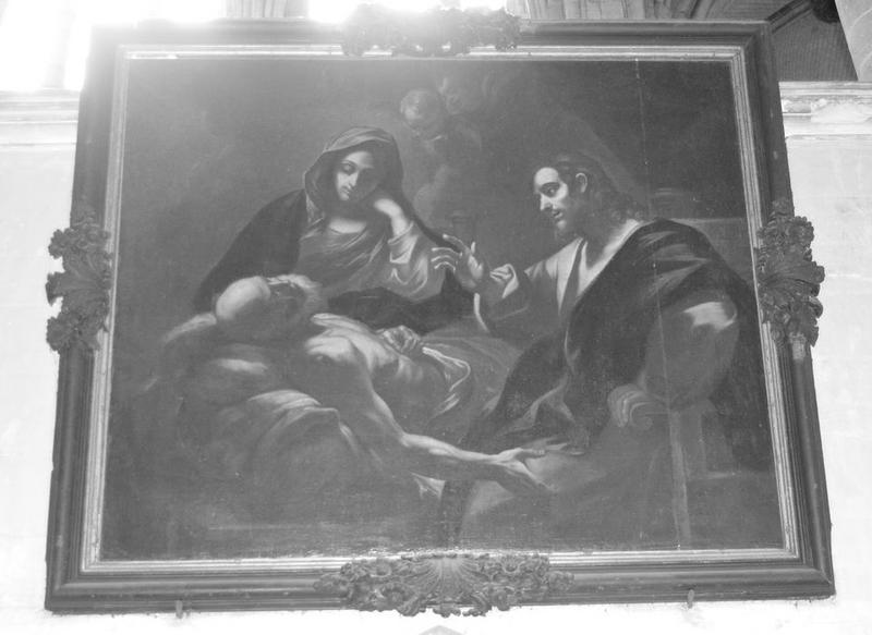 Tableau, cadre : Mort de saint Joseph, vue générale