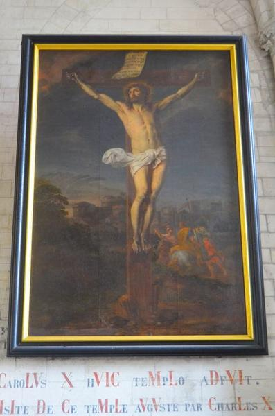 tableau: Christ en croix, vue générale