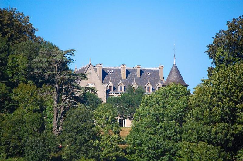 vue partielle du château dans son environnement