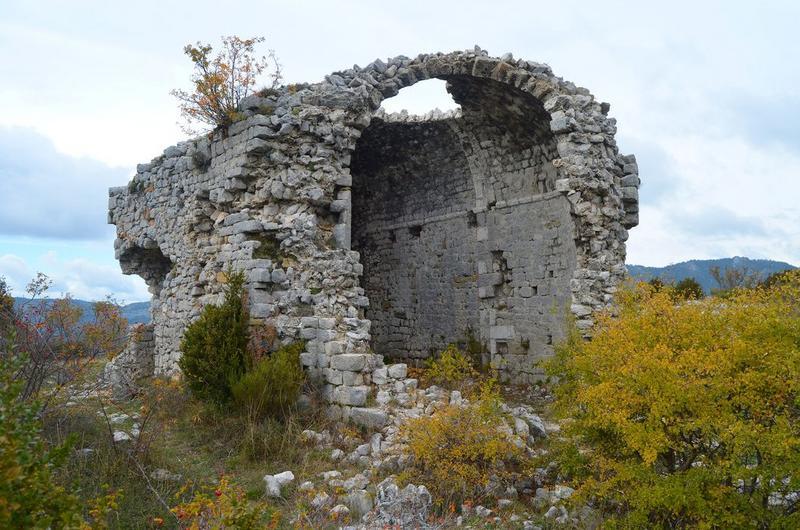 ruines de la chapelle, vue générale