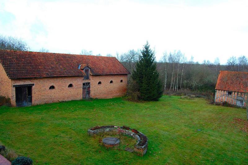 Grange ouest, façade est, vue générale
