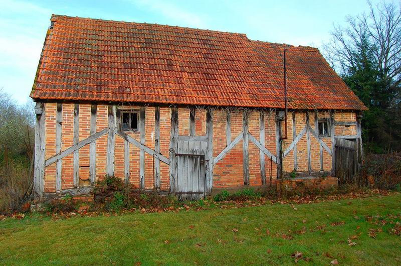 Grange nord, façade sud, vue générale