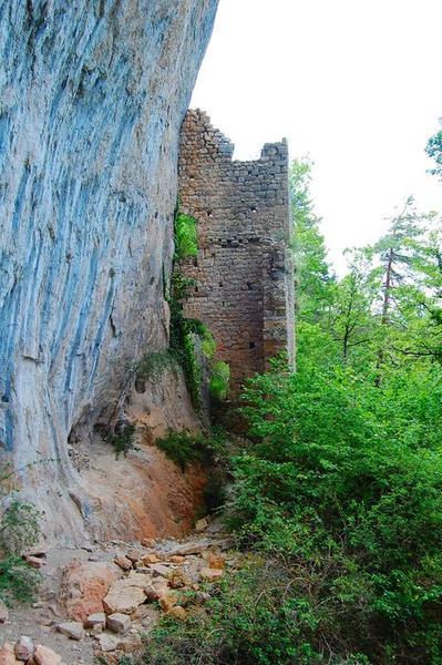 Vue partielle des ruines