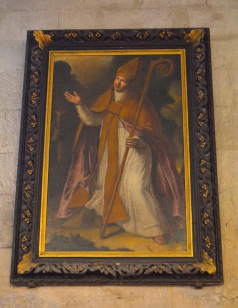 Tableau : saint évêque, vue générale