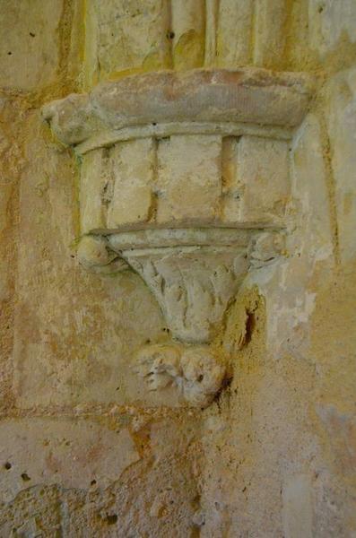 Sacristie, détail d'une console