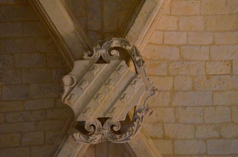 Sacristie, détail d'une clef de voûte
