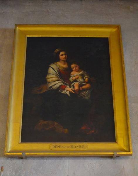 Tableau et son cadre : Vierge à l'Enfant, vue générale
