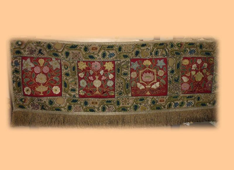 Dais de procession (pans de dais de procession), vue partielle