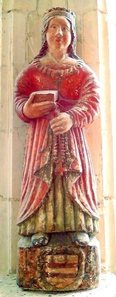 Statue : sainte Valière, vue générale