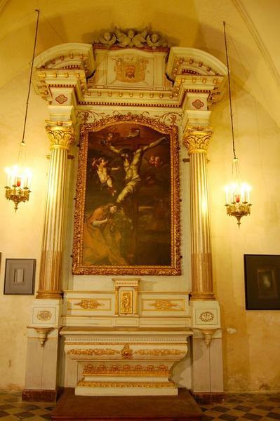 retable, tableau, cadre : Madeleine au pied de la croix