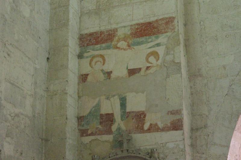 peinture monumentale: Christ en croix, vue générale
