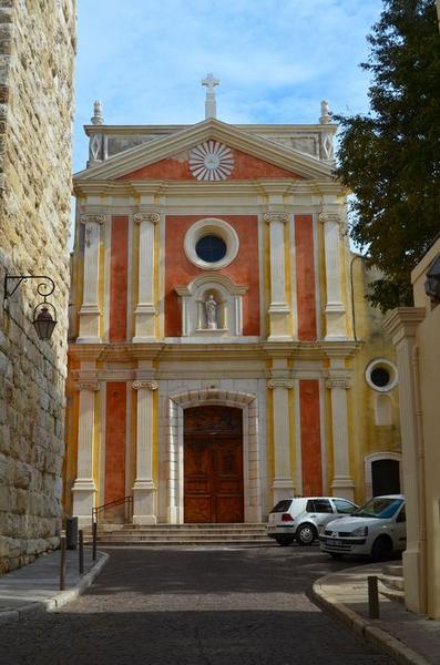 Eglise paroissiale, chapelle Saint-Esprit et tour Grimaldi