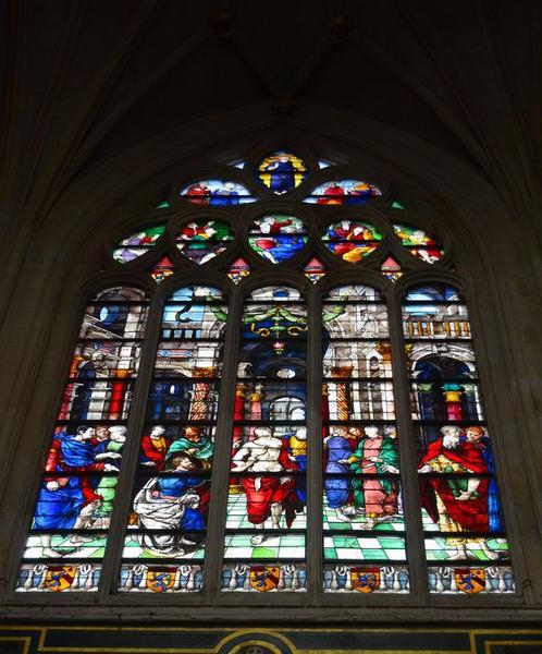 Verrière du transept droit : L'Incrédulité de saint Thomas