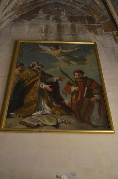 Tableau : Saint Grégoire et saint Etienne