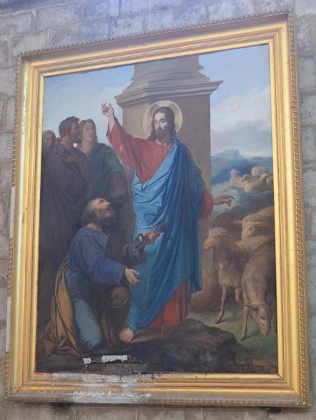 Tableau : Le Christ remettant les clés à saint Pierre
