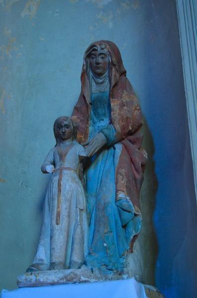 Groupe sculpté : sainte Anne et la Vierge