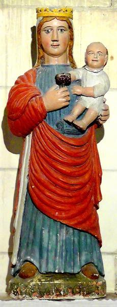 statue : Vierge à la treille, vue générale