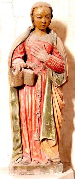 statue : Vierge dite Servante du Seigneur, vue générale
