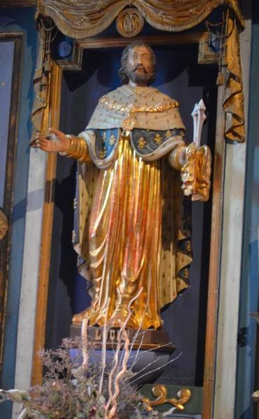 statue: saint Louis, vue générale
