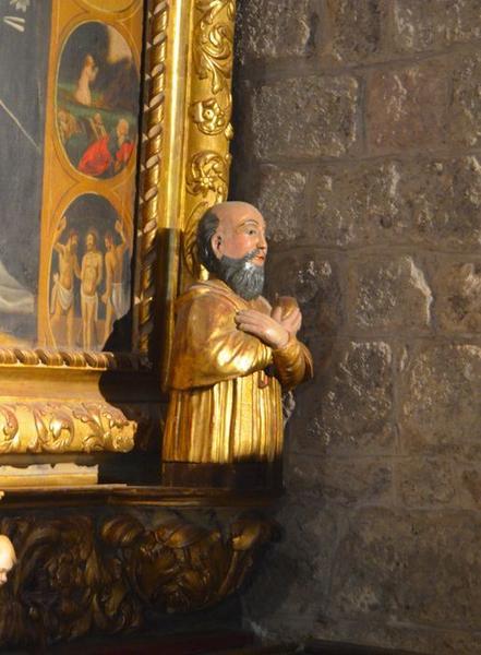 statue: saint non identifié, vue générale