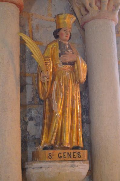 Statue: saint Genes, vue générale