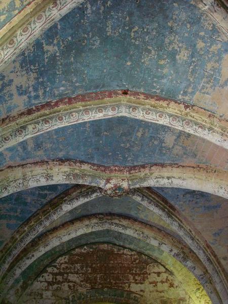 Église abbatiale, crypte, vue partielle des voûtes