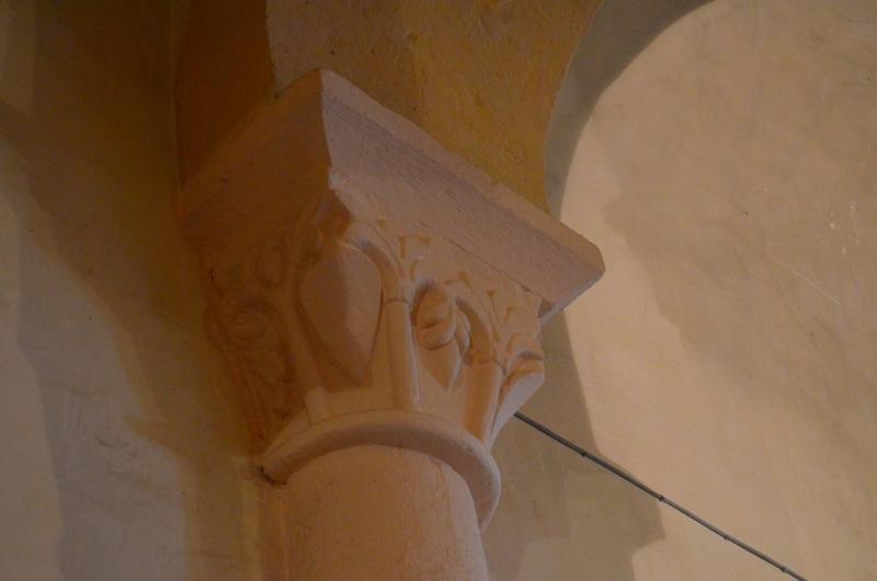 Détail d'un chapiteau sculpté