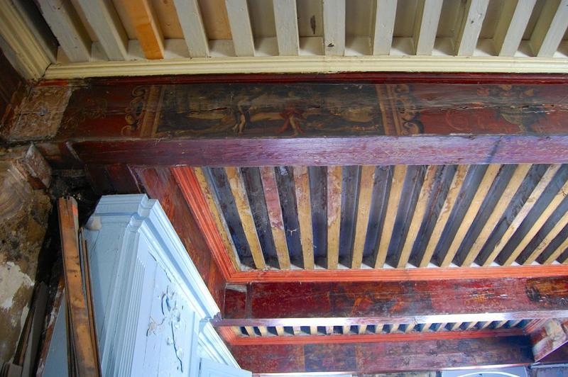Plafond, 2e étage, peintures monumentales: Métamorphoses d'Ovide, vue partielle