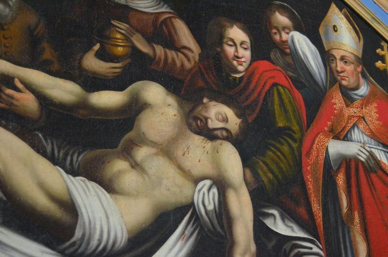 Tableau : la Mise au tombeau, vue partielle