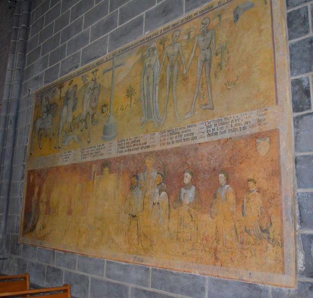 Peinture monumentale : dit des trois morts et des trois vifs (le), vue générale