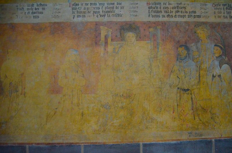 Peinture monumentale : dit des trois morts et des trois vifs (le), vue partielle
