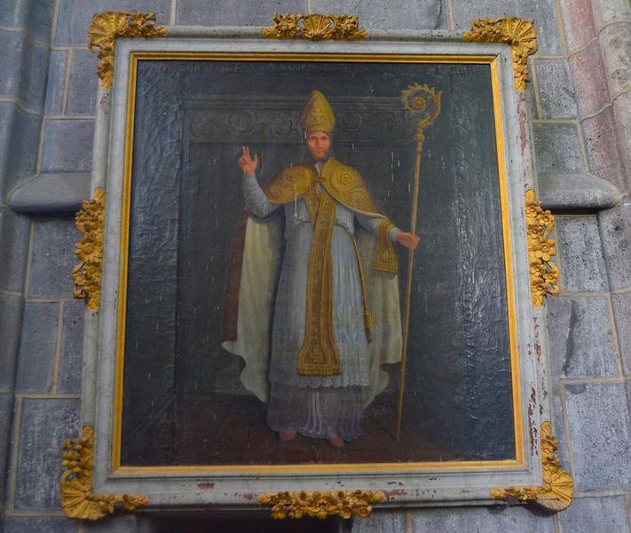 Tableau: saint évêque, vue générale