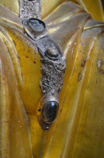 Statue : saint Blaise, détail