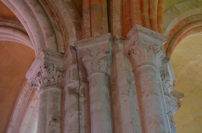 Croisée du transept, détail des chapiteaux sculptés