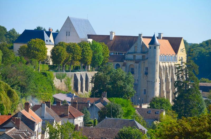 vue générale de l'abbaye dans son environnement