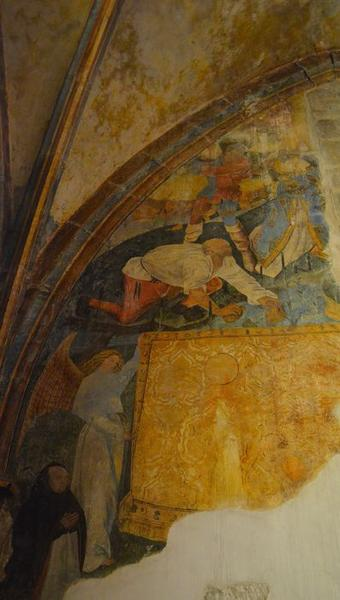 Peinture murale : la Lapidation de saint Etienne, vue partielle