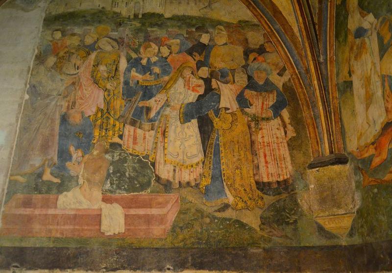 Peinture murale : la Résurrection de Lazare, vue partielle