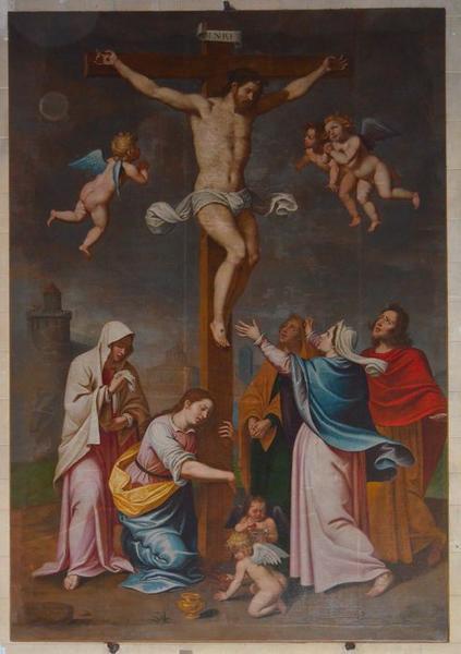 Tableau : Christ en croix, vue générale