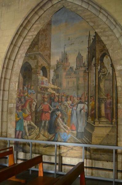 tableau: sainte Jeanne d'Arc au pied de la Vierge, vue générale