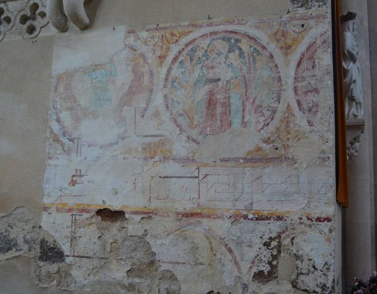 Transept nord, peinture monumentale, vue partielle