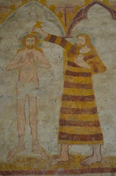 Peintures monumentales, détail: baptême du Christ (le)
