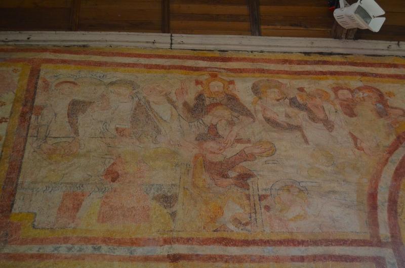 Peintures monumentales, détail: la Cène