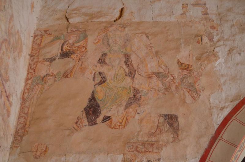 Peintures monumentales, vue partielle: Vierge à l'enfant