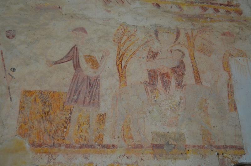 Peintures monumentales, vue partielle: Fuite en Egypte (la)