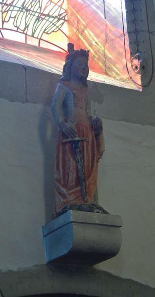 Statue: sainte Barbe (?), vue générale