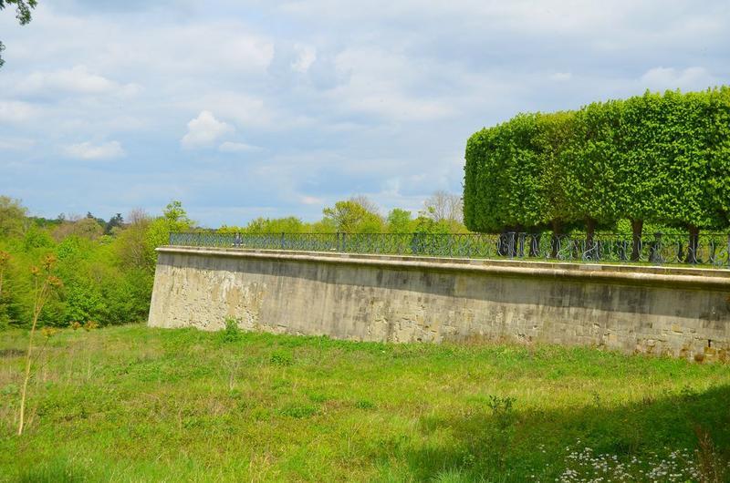 Terrasse, extrémité nord, vue générale