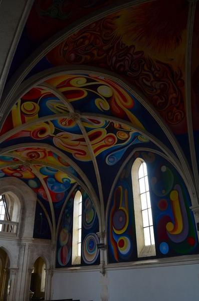 Peintures monumentales, nef, vue partielle
