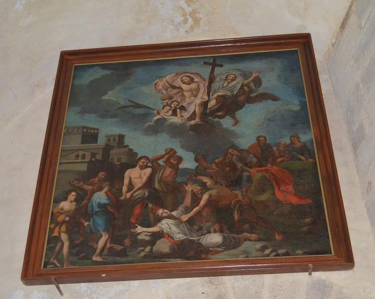 Tableau : Martyre de saint Etienne, vue générale