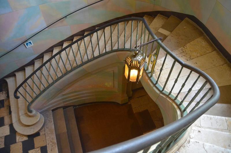 Escalier d'honneur, partielle